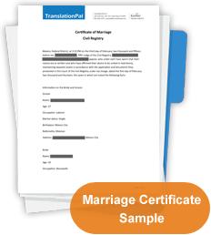 Marriage Certificate Translation | TranslationPal com